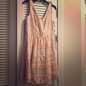 Adrianna papell blush floral dress